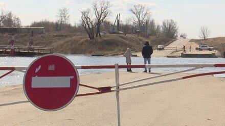 В Воронежской области закрыли ещё один понтонный мост