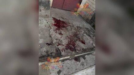 Подъезд многоэтажки на воронежском Машмете залили кровью
