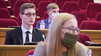 В Воронежской облдуме прошло итоговое заседание молодёжного парламента
