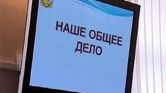 """Участники проекта """"Наше общее дело"""" встретились в правительстве области"""