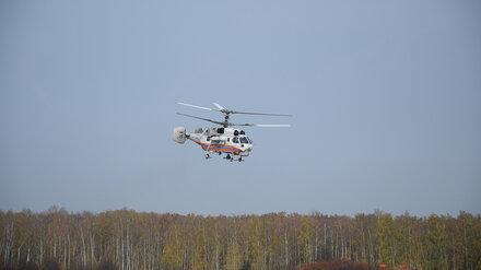 Дежуривший над полыхавшей Воронежской областью вертолёт вернулся в Москву
