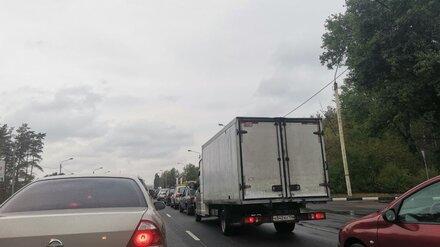 На выезде из Воронежа образовалась огромная пробка