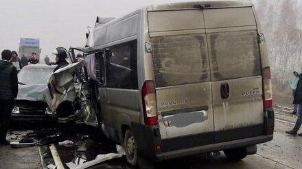 Полиция показала фото последствий ДТП с 5 погибшими на воронежской трассе