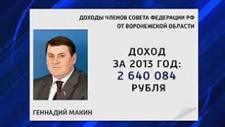 Воронежские сенаторы отчитались о доходах и имуществе