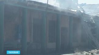 В Таловой чуть не сгорели мастерские при железной дороге