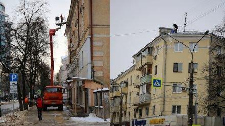 В Воронеже возобновили чистку крыш