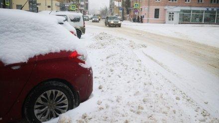 Снегопад запер воронежских автомобилистов на платных парковках