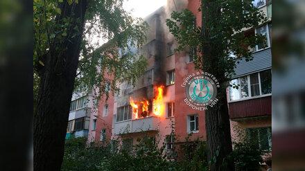 При пожаре в воронежской пятиэтажке пострадал мужчина