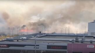 Сухая трава загорелась в нескольких районах Воронежа