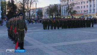 Из-за репетиции парада в центре Воронежа образовались пробки