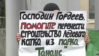 Воронежцы просят губернатора перенести строительство ледового катка из «Танаиса»
