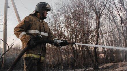 В Лискинском районе Воронежской области ликвидировали крупный ландшафтный пожар