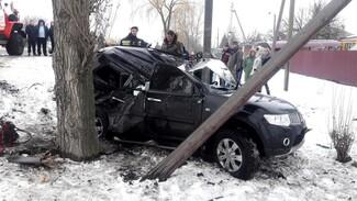 Под Воронежем внедорожник влетел в дерево: погиб пассажир