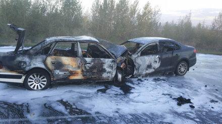 Под Воронежем в страшном ДТП заживо сгорели 5 человек