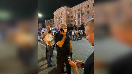 Губернатор прибыл на место взрыва маршрутки в центре Воронежа