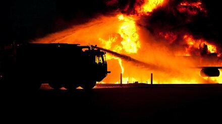 В Воронежской области при пожаре один мужчина погиб и один пострадал