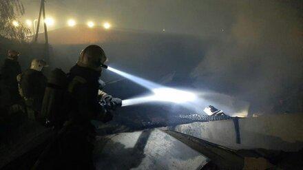 На сахарном заводе в Воронежской области произошёл пожар