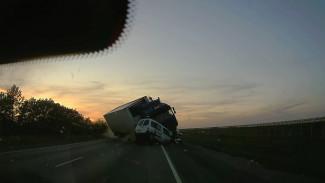 Видеорегистратор записал момент страшной аварии с 4 погибшими в Воронежской области