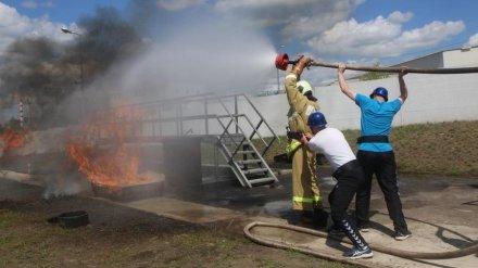 На Нововоронежской АЭС прошли соревнования среди добровольных пожарных