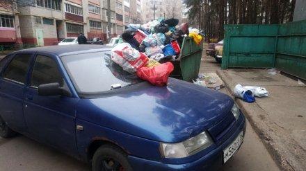 Воронежцы проучили водителя, который заблокировал подъезд к мусорке