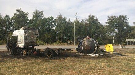 Трассу под Воронежем залило тоннами битума после ДТП