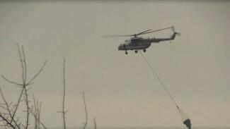 МЧС показало эффектное видео тушения пожаров в Воронежской области с воздуха
