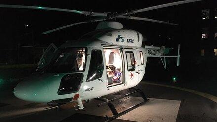 В Воронеж вертолётом доставили сбитого в Борисоглебске мотоциклистом подростка