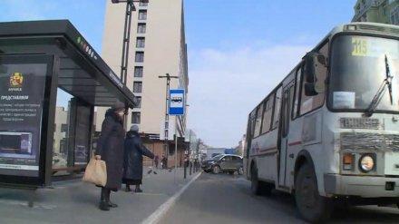 В первый день нерабочей недели маршрутки Воронежа потеряли половину пассажиров