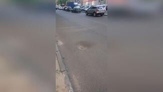 В Воронеже мужчина на электровелосипеде разбил голову из-за ямы на дороге