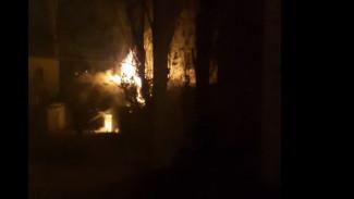 В Воронеже горели сараи, которые должны были снести