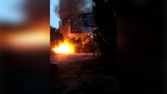 В Воронеже из-за пожара и ветра начался «огненный дождь»
