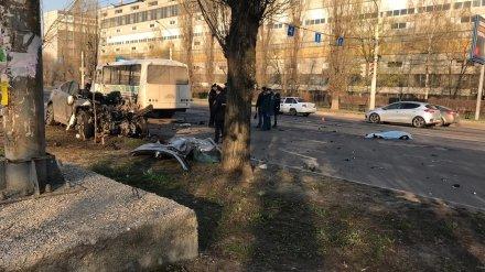 Камера записала момент страшной аварии с 4 погибшими в Воронеже