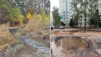 В Воронеже парк и несколько дворов превратились в реки из-за коммунальной аварии