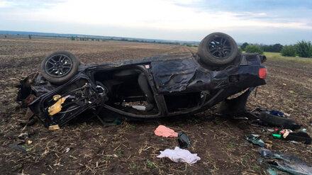 В Воронежской области три человека на Audi пострадали в пьяном ДТП