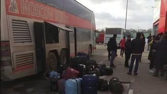 В морозное утро под Воронежем сломался следовавший из Москвы пассажирский автобус