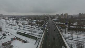 В Воронеже открыли движение по всем 6 полосам виадука на 9 Января