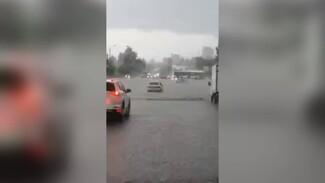 Вода по пояс и тонущие машины. В Воронеже затопило район Центрального парка