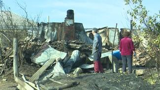 В сгоревшем воронежском селе завершили разбор завалов