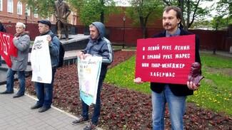 В Воронеже прошла первая в истории города демонстрация с абсурдными плакатами