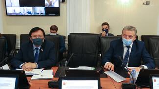 Вице-премьер ответил на острые вопросы воронежского сенатора