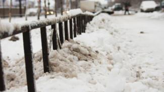 Как воронежские дорожники отреагировали на снегопад в конце марта