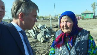 Новые дома на месте сгоревших появятся в воронежском селе за полгода