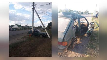 В Воронежской области пьяный селянин врезался в столб