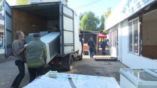 Незаконные киоски в Воронеже оставили без света