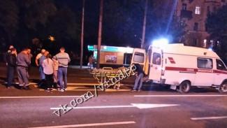 В Воронеже пешеход пренебрёг осторожностью и попал под колёса легковушки