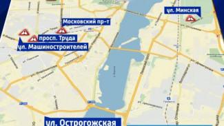 Самые опасные участки дорог Воронежа разместили на интерактивной карте