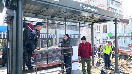 Вторую в Воронеже «умную остановку» замостят тактильной плиткой