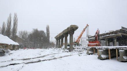 В Воронеже разобрали второй пролёт виадука на 9 Января