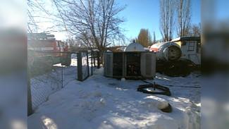 В Воронеже на газовой заправке вспыхнул пожар: пострадал мужчина