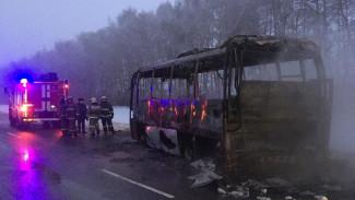 Пассажирский автобус «Тамбов – Воронеж» сгорел на трассе в соседнем регионе